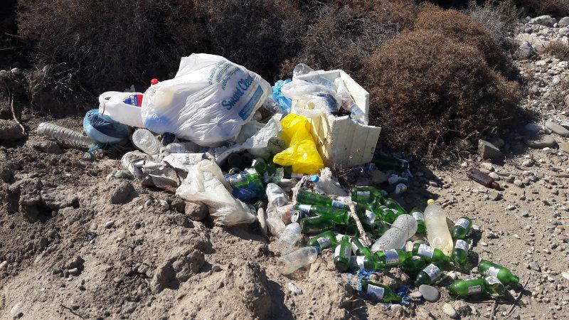Müllhaufen am Strand