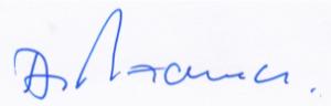 Unterschrift von Dr. Hamer