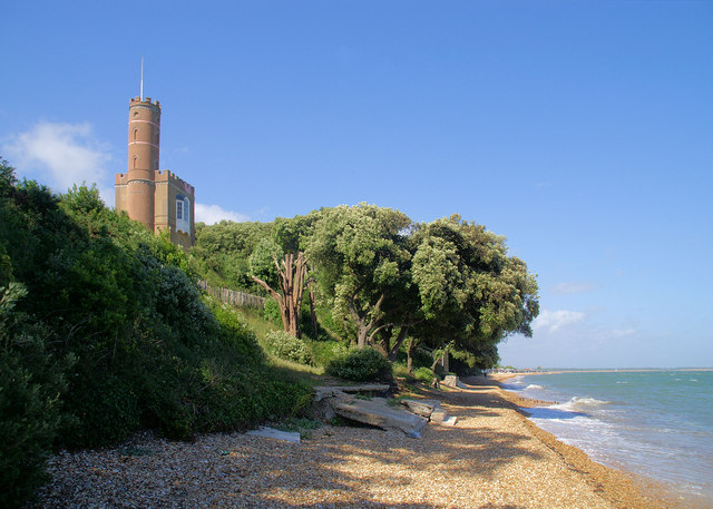 Luttrell's Tower near to Calshot, Hampshire, Great Britain