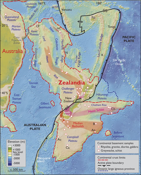 Spatial limits of Zealandia
