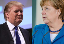 Trump-Merkel-Collage