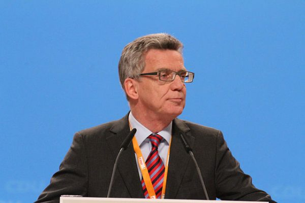 Thomas de Maizière auf dem CDU Bundesparteitag Dezember 2014 in Köln
