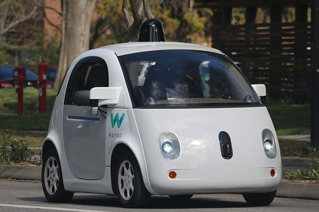 A Waymo self-driving car