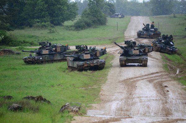 M1A2-Panzer in Hohenfels, Deutschland