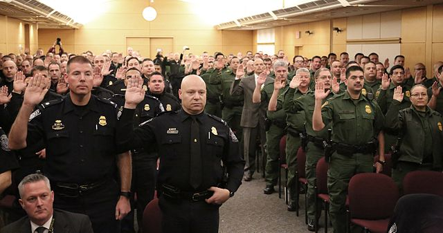 U.S. Capitol Police Swear In CBP Officers and Agents to Assist with Security on Inauguration Day