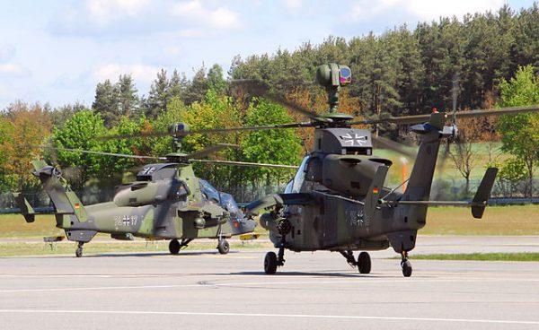 Zwei Bundeswehr Eurocopter Tiger