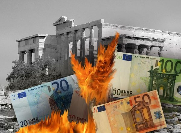 Burning Money in Greece