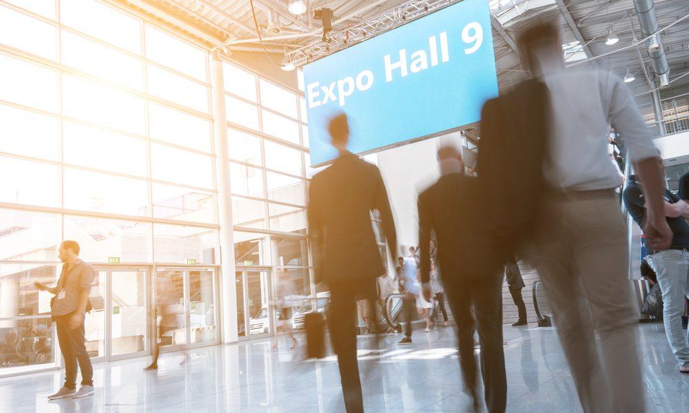 Bei der Messe/Expo in der Halle 9