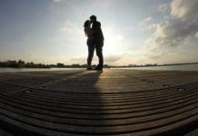 Liebespärchen im Schatten