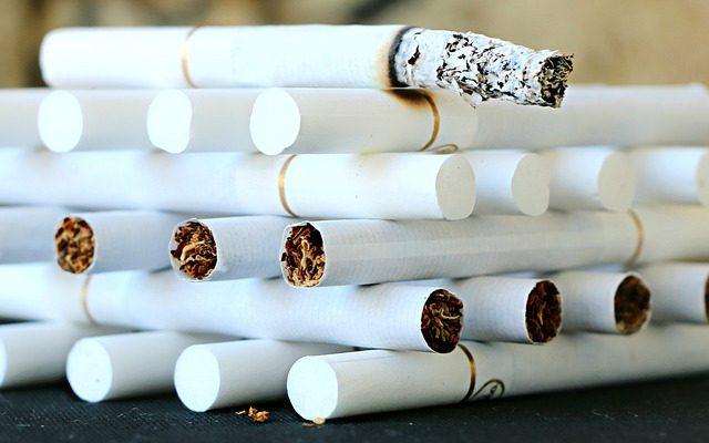 Gestapelte Zigaretten