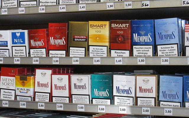 die zigarettenmarken der tabakindustrie