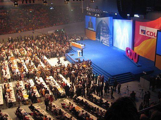Bundesparteitag der CDU-Deutschland in Dortmund im Herbst 2005