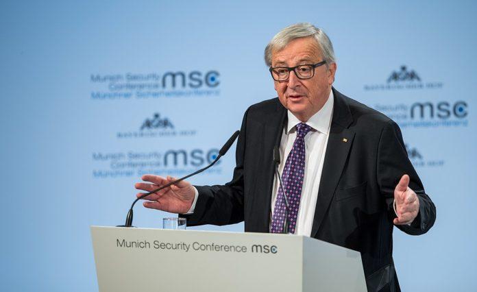 Jean-Claude Juncker während der Münchener Sicherheitskonferenz 2018