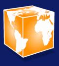 Equapio-Logo mit Schatten im blauem Hintergrund