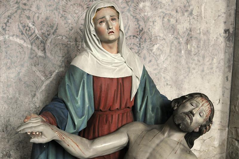 Wassenberg-Steinkirchen: Pietà in the damaged churched St. Martinus